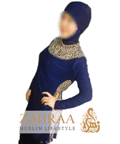 Burkini Leopard Blue