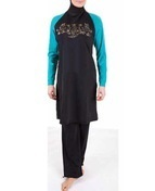 Burkini Ornament Black-Emerald