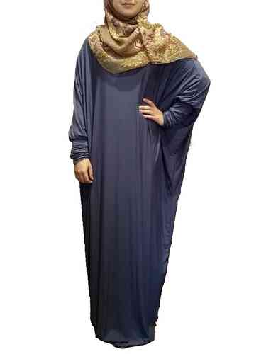 Abaya Dress Lina Jeans-Blue