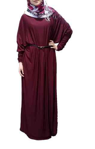 Abaya Dress Lina Burgundy