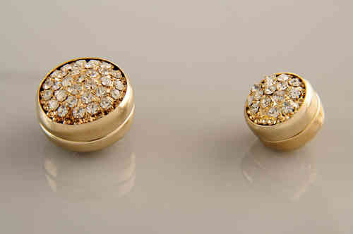 Magnet Set Diamonds Weiß Gold