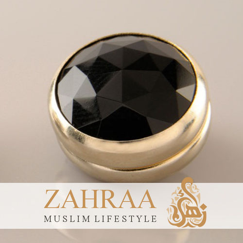 Single Magnet Small Crystal Black Gold