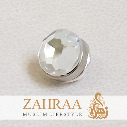 Single Magnet Mini Crystal White Silver