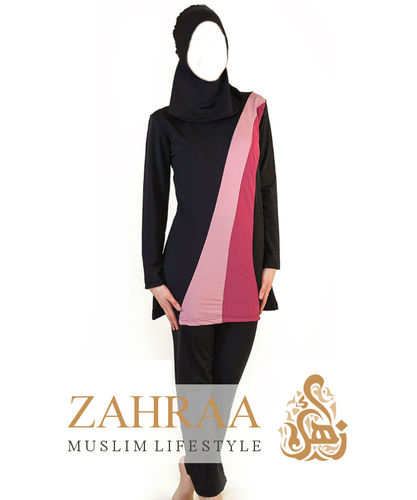 Burkini Stripes Black