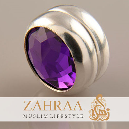 Single Magnet Small Crystal Purple Silver