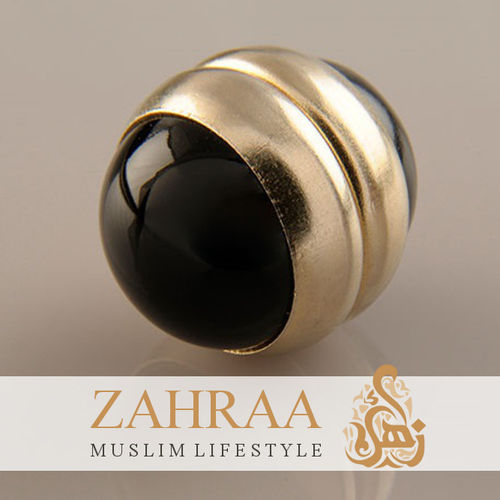 Single Magnet Small Onyx Gold
