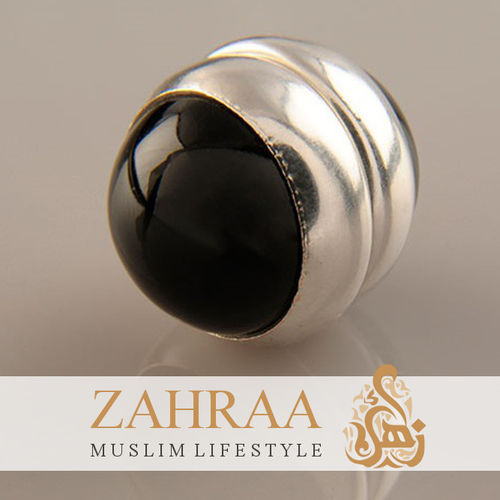 Single Magnet Small Onyx Silver
