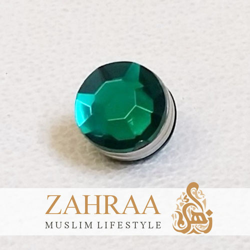 Single Magnet Mini Crystal Dark Green Silver