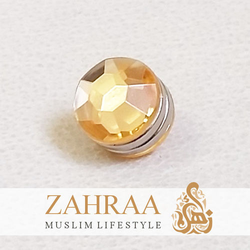 Single Magnet Mini Crystal Peach Silver