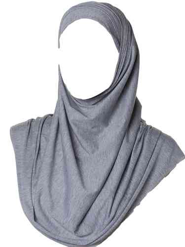 Maxi Jersey Hijab Light Grey