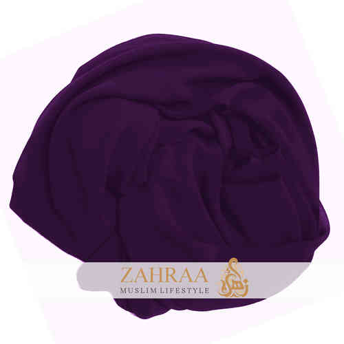 Maxi Scarf Chiffon Dark Purple