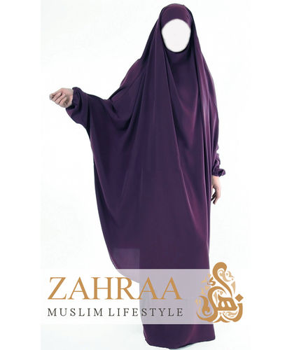 Jilbab Maryam Dark Purple (Khimar & Skirt)