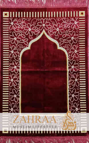 Prayer Mat Dark Red I