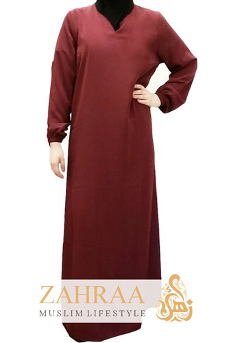 Abaya Zahra Dark Red
