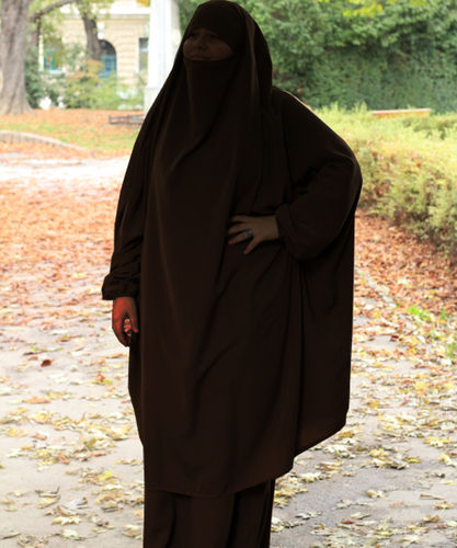 Jilbab Maymuna Dark Brown (Khimar & Skirt)