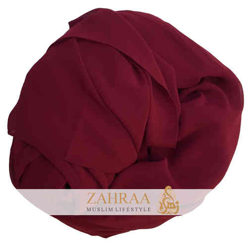 Maxi Scarf Chiffon Dark Red