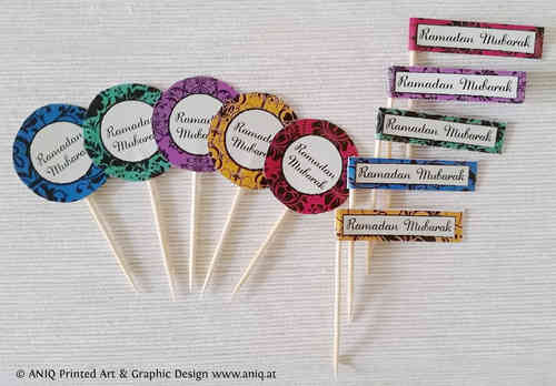 Ramadan Partypicker 10 Pieces Cupcake Topper
