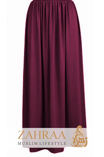 Maxi Rock Selma Burgundy
