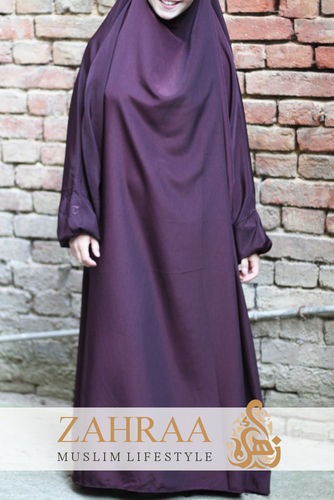 Khimar Safiyya One-Piece Dark Red