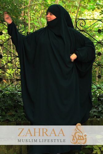 Jilbab Maymuna Dark Green (Khimar & Skirt)