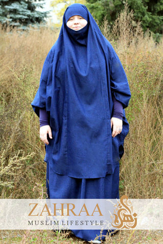 Jilbab Denim (Khimar & Skirt)