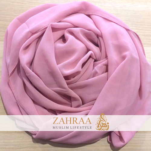 Maxi Scarf Chiffon Dusty Rose