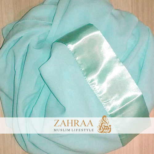 Shawl Chiffon Satin Mint
