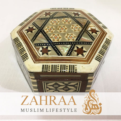 Wooden Box Oriental Hexagonal C