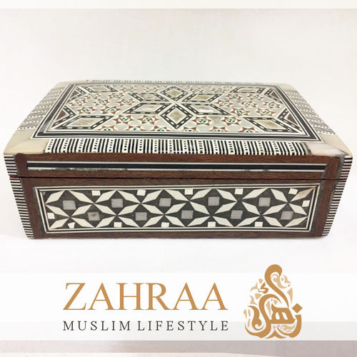 Wooden Box Oriental Rectangular Medium