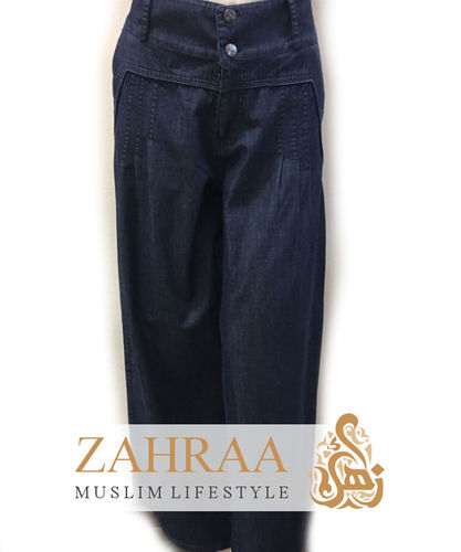 Wide Denim Trousers Marwa Dark Blue