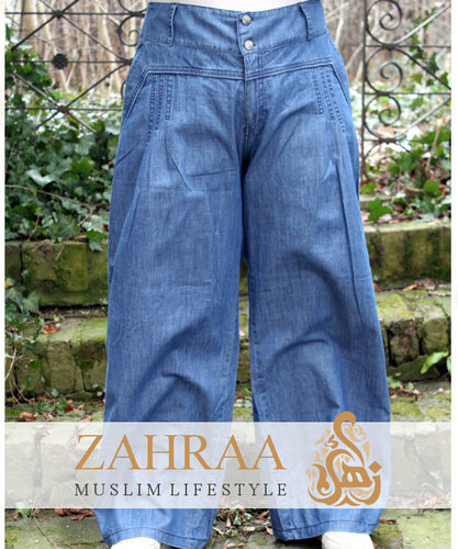 Wide Denim Trousers Marwa Classic Blue
