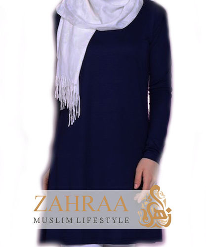 Shirt Tunika Basic Dunkelblau