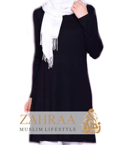 Shirt Tunika Basic Schwarz