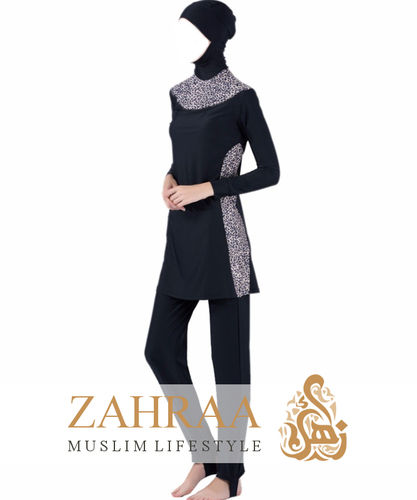 Burkini Leopard Black