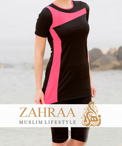 Swimsuit Nihal Black-Pink