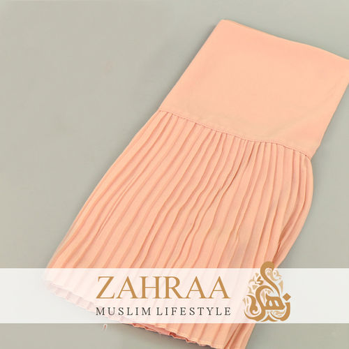 Shawl Chiffon Pleating Edge Apricot