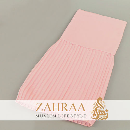 Shawl Chiffon Pleating Edge Pink