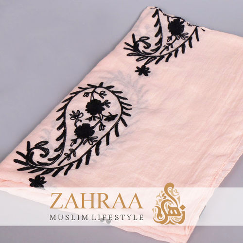 Schal Madina Embroidery Rosa