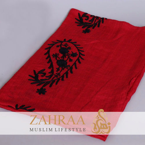 Schal Madina Embroidery Rot