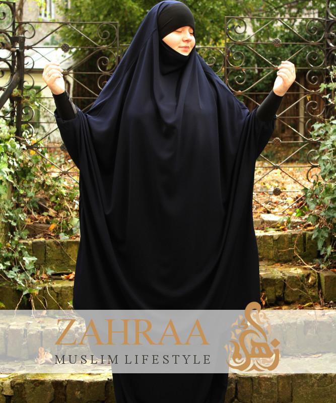 Jilbab Madeeha Jersey Bandeau Black Khimar Skirt Zahraa