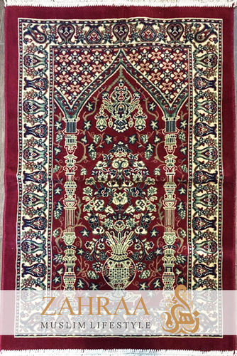 Prayer Mat Dark Red II