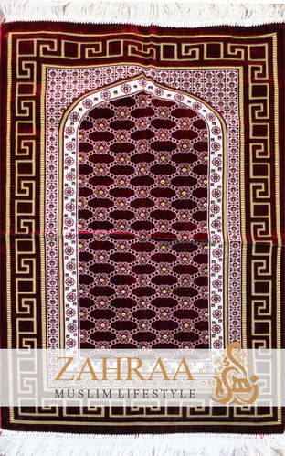 Prayer Mat Dark Red III