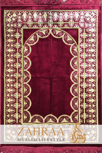 Prayer Mat Dark Red V