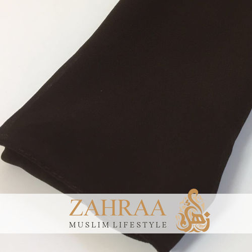 Shawl Chiffon Wide Dark Brown