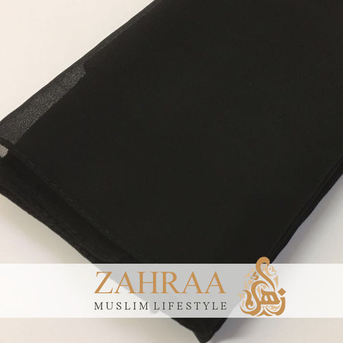 Shawl Chiffon Wide Black