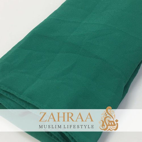Shawl Chiffon Wide Emerald