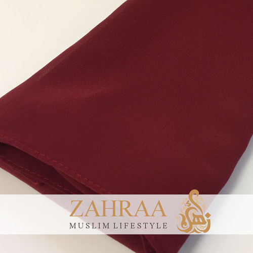 Shawl Chiffon Wide Dark Red