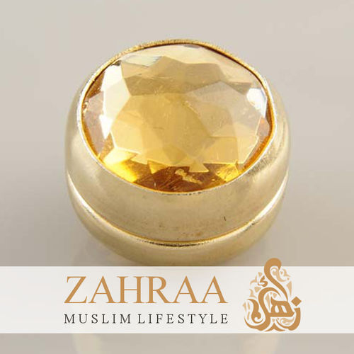 Single Magnet Crystal Apricot Gold