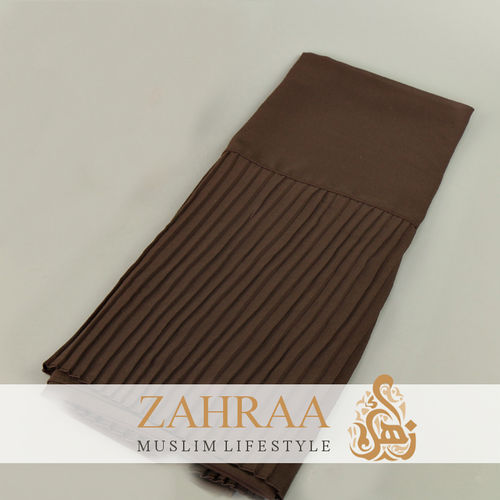 Shawl Chiffon Pleating Edge Coffee