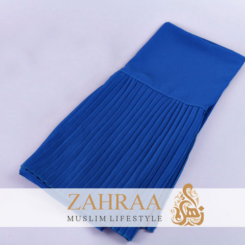 Shawl Chiffon Pleating Edge Royal Blue